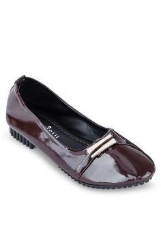 Giày búp bê phối nơ chéo Sarisiu SRS822 (Hạt dẻ)