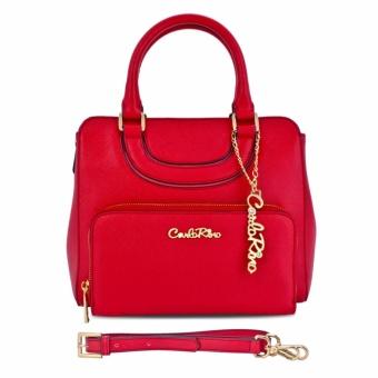 Túi xách tay ngăn phụ ngoài Carlo Rino 0303333-001-04 (đỏ)