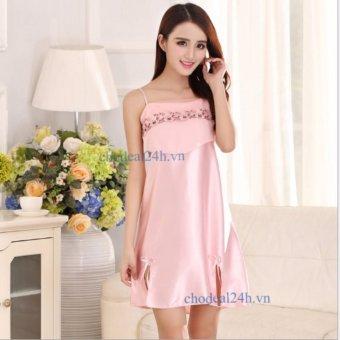 Đầm Ngủ Vải Lụa Ren Ngực Cdanp01