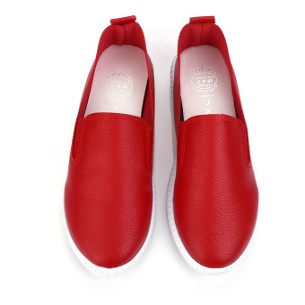 Ladies Flat Shoes Round Toe Solid Color (Red) - Intl - intl