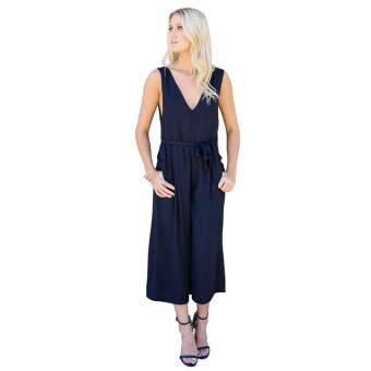 WomenWaited sleeve V-Neck Jupsuit Playsuit Cropped Tro