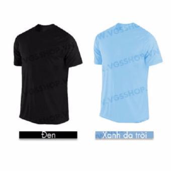 Bộ 2 áo thun LAKA A1017 (Đen + Xanh Da Trời)