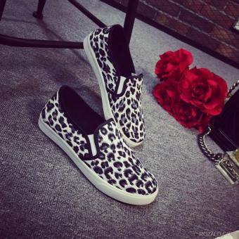 Giày vải nữ ROZALO RWG31602DBD - Da Báo Đen