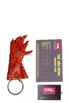 Móc khóa da cá sấu nam da thật Da Giày Việt Nam VNLZ1L2ZL2 (Nâu Vàng)