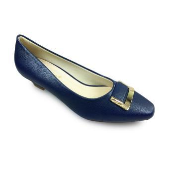Giày bít đính khoá gót cao 3f