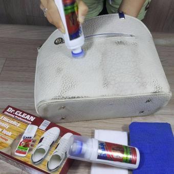 Bình xịt làm sạch giày da, túi xách, ghế sofa hiệu quả (Trắng)