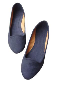 Giày lười moka Dolly&Polly DL155 (Đen)