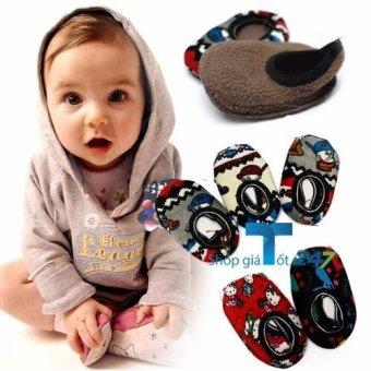 Bộ 10 đôi Giày nỉ đi trong nhà chống trơn trượt cho bé gái ,bé trai GT247
