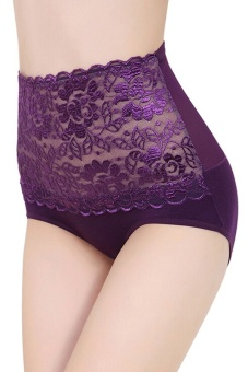 Blue lans Abdomen Panties High Waist Underwear (Purple) - Intl - intl