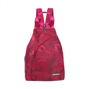 Fashion Unisex Casual Travel Satchel Shoulder Backpack RD - intl