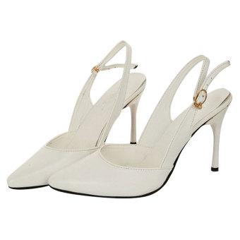 Giày cao gót bít Nóni nữ Family shop HB03 (Trắng)
