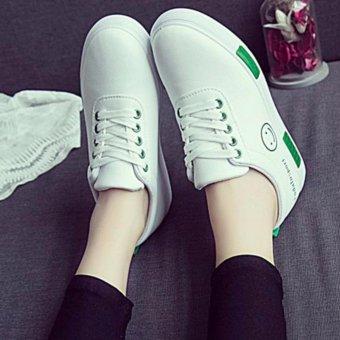 Giày Sneaker Thời Trang Nữ Sodoha SGN21299TX - Trắng Phối Xanh