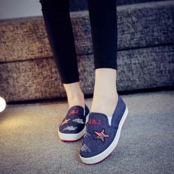 Giày lười vải Jean sành điệu