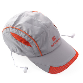 Wireless Bluetooth 3.0 Hands-free Headphone Headset Phone Call Answer Music Summer Sports Baseball Cap Hat Grey