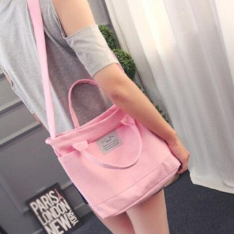 Fashion Women Casual Simple Canvas Handbag Cross Body Shoulder Messenger Bag - intl