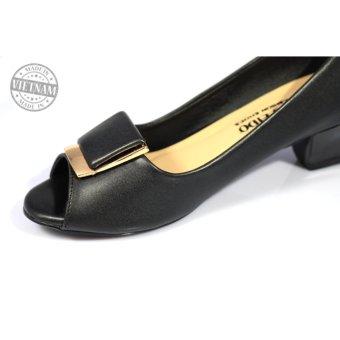 Giày cao gót đế vuông thanh lịch cao cấp màu đen NT FASHION 139504