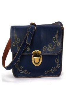 HKS Women Tote Hobo Messenger Bags Retro Faux Leather Crossbody Satchel Blue - intl