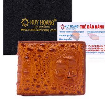 HL2206 - Bóp nam Huy Hoàng da cá sấu nguyên con màu vàng