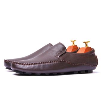 Giày lười nam Da Thật Giày Da Miền Trung VCT6LZD79-1N-2 (Nâu)