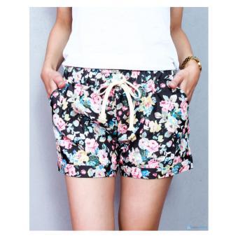 Bộ 02 quần short hoa free size rực rỡ ngày hè