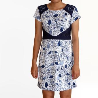 Đầm hoa hồng OYO FASHION (xanh)