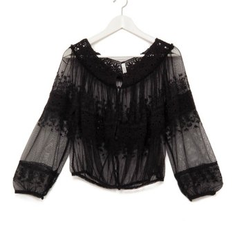 Free People Victorian Top (Black)