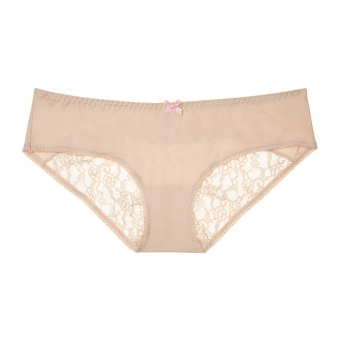 Quần lót Victoria's Secret Heart Lace Ruched-back Hiphugger Panty # New Nude (35A)
