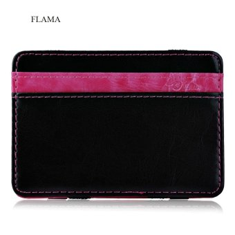 FLAMA Color Block Resilient Magic Closure Short Money Clip for Unisex - intl