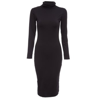 Sexy Club Party Women Long Sleeve Bodycon Dress Black - Intl - intl