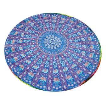 Summer Beach Towels Retro Style Floral Printed Blanket Yoga Mat - intl
