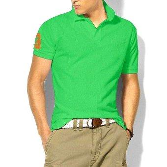 Moonar Men's Casual Design Polo T-Shirts (Green) - Intl