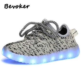 Led Light Up Shoes Kids 7 Color 11 Mode Usb Rechargeablesneakers Girls Boys Teens - intl