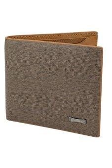 Bluelans Men Leather Wallet Pockets Card Clutch Bifold Purse Light Brown (Intl)