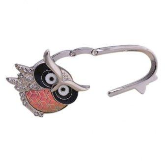 BolehDeals Owl Design Brilliant Handbag Purse Lock Hanger Hook H for Ladies - Rainbow - intl