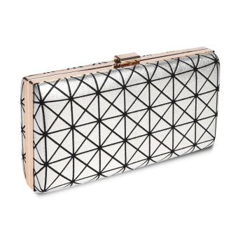 Linemart Limemart New Clutch Casual Women's Handbag Lady Party Crystal Evening Bags ( Silver ) ( Silver ) - intl