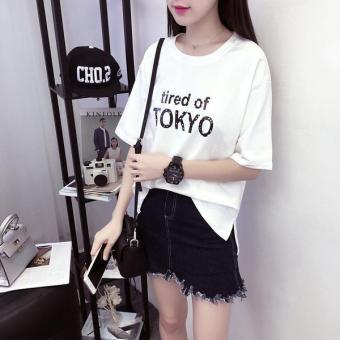 Áo thun nữ TOKYO cá tính T&D D123 (Trắng) Trần Doanh