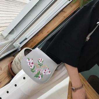 Women Messenger Bags Embroidery Flower Shoulder Bags Handbag Small Body Bags - intl