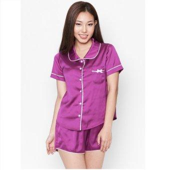 Pyjama lụa ngắn Cloud TN1 (Tím)