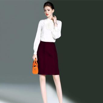 Chân váy ôm xếp pilly – MS0305CV Đỏ