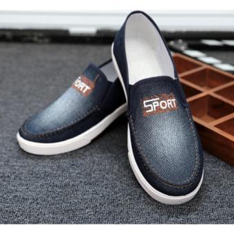 Giày luời vải bò nam ( xanh )