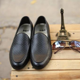Giày da Loadfer nam sang trọng Kazin màu đen KZDS044