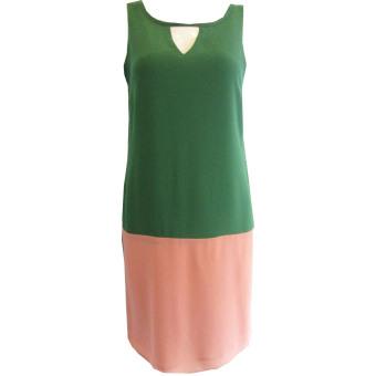 Đầm Dạo Phố D-45 Green Peach (Xanh – Hồng)