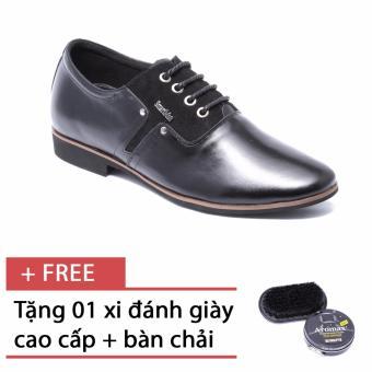 Giày da nam công sở lịch lãm SMARTMEN GD2-01 (Đen), tặng kèm 1 bàn chải và 1 hộp xi cao cấp