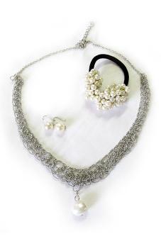 Bộ trang sức thời trang đính Ngọc trai Alamode Paris ALM 5002S (Trắng)