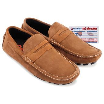 HL7701 - Giày mọi Huy Hoàng da lộn màu bò nhạt