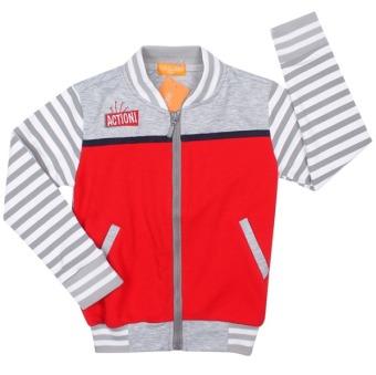 Áo khoác bé trai – BT50730 (Xám đỏ)