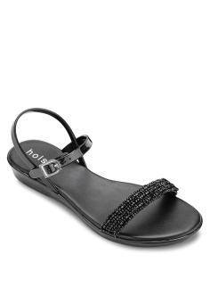 Giày sandal nữ Holster SERENADE WEDGE (Đen)