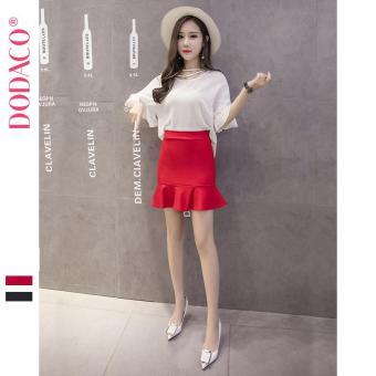 Chân Váy Ngắn Nữ Chân Váy Đuôi Cá Phong Cách Hàn Quốc Thời Trang DODACO DDC1886 DO VNU S - XXL 5295 (Đỏ)