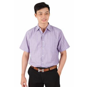 Áo Sơ Mi Nam Big Size Họa Tiết Caro Tím Xinh Store