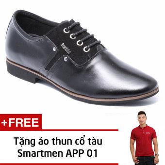 Giày da nam công sở Smartmen GD2-01 + Tặng Áo Thun Nam App01